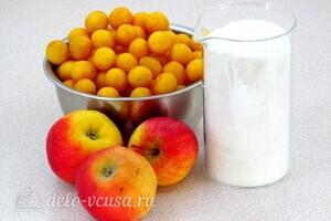 Варенье из жёлтой алычи с яблоками: Ингредиенты