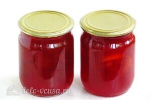Варенье из жёлтой алычи с яблоками: фото к шагу 11.