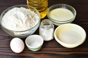 Полтавские вергуны на кефире: Ингредиенты