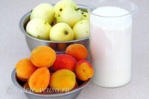 Яблочно-абрикосовое повидло на зиму: Ингредиенты