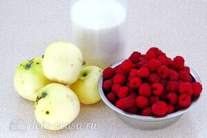 Яблочно-малиновое повидло: Ингредиенты