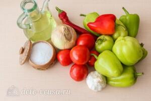 Жареный сладкий перец с томатным соусом: Ингредиенты