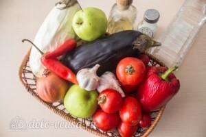 Аджика с баклажанами и яблоками на зиму: Ингредиенты