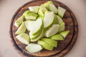 Аджика с баклажанами и яблоками на зиму: фото к шагу 4.