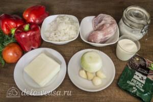 Перец фаршированный свининой и сыром: Ингредиенты