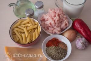 Макароны с фаршем в сырном соусе: Ингредиенты