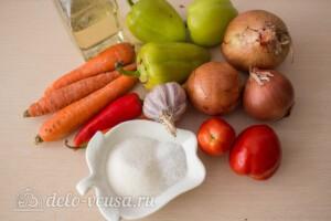 Салат из моркови и перца на зиму: Ингредиенты