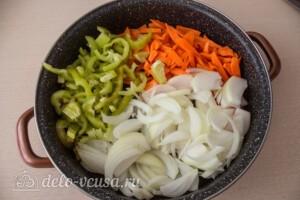 Салат из моркови и перца на зиму: фото к шагу 4.