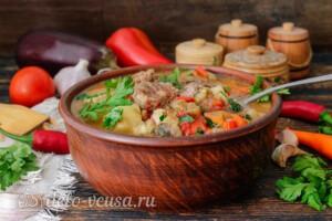Тушеная говядина с картошкой и овощами: фото к шагу 9.