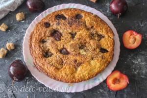 Овсяный пирог со сливами: фото к шагу 11.