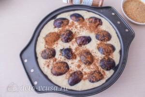 Овсяный пирог со сливами: фото к шагу 8.