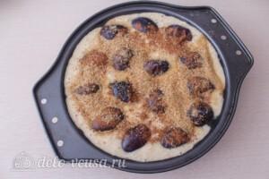 Овсяный пирог со сливами: фото к шагу 9.