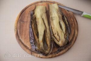 Печеные баклажаны на зиму: фото к шагу 3.