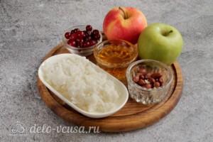 Печеные яблоки с рисом и клюквой: Ингредиенты