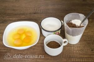 Шоколадно-кофейный бисквит: Ингредиенты