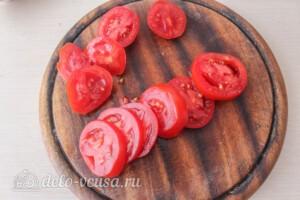 Итальянский салат «Капрезе»: фото к шагу 3.