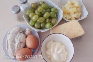 """Салат """"Тиффани"""" с курицей и ананасом: Ингредиенты"""