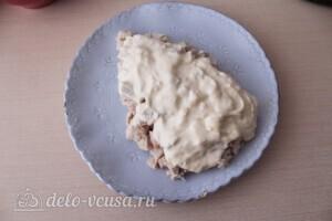 "Салат ""Тиффани"" с курицей и ананасом: фото к шагу 4."