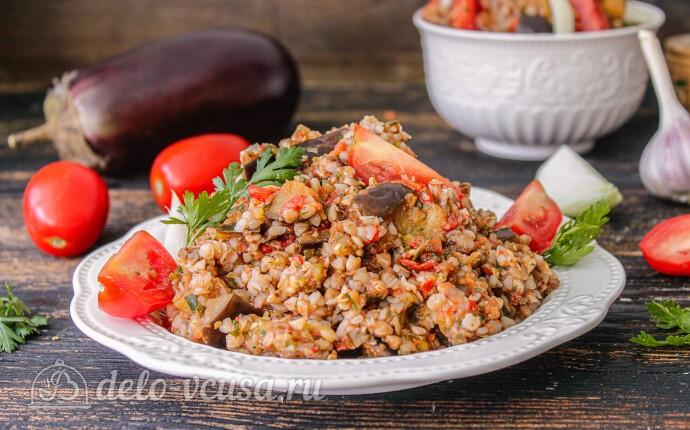 Гречка с баклажанами и овощами