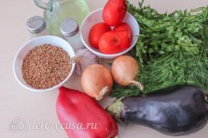 Гречка с баклажанами и овощами: Ингредиенты