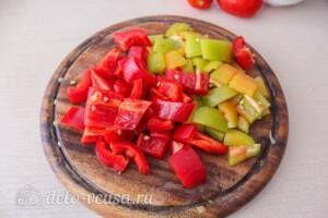 Гречка с баклажанами и овощами: фото к шагу 2.