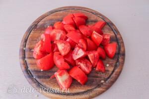 Гречка с баклажанами и овощами: фото к шагу 3.