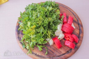 Гречка с баклажанами и овощами: фото к шагу 6.