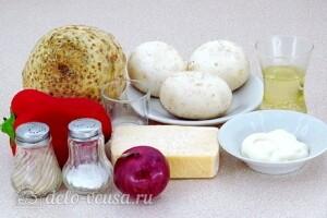Овощной салат с сельдереем, грибами и сыром: Ингредиенты