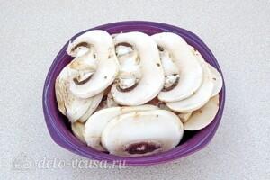 Овощной салат с сельдереем, грибами и сыром: фото к шагу 1.