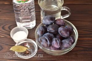 Слива с чесноком на зиму: Ингредиенты