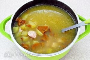 Суп с лисичками и курицей: фото к шагу 13.