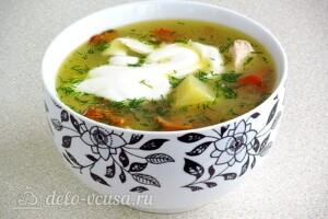 Суп с лисичками и курицей: фото к шагу 14.