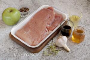 Свинина с яблоками в духовке: Ингредиенты
