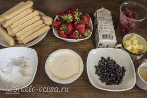 Торт Шарлотта без выпечки: Ингредиенты
