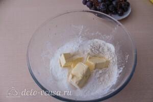 Королевская ватрушка с виноградом: фото к шагу 1.