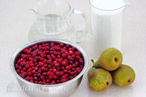 Варенье из груш с клюквой: Ингредиенты