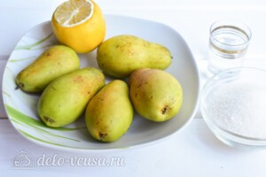 """Варенье из груш """"Пятиминутка"""" с лимоном: Ингредиенты"""