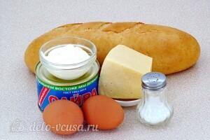 Бутерброды из сайры, яиц и сыра: Ингредиенты