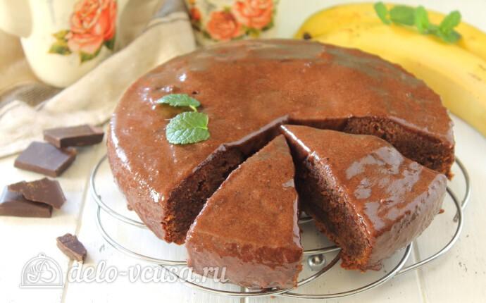 Шоколадно-банановый пирог в мультиварке