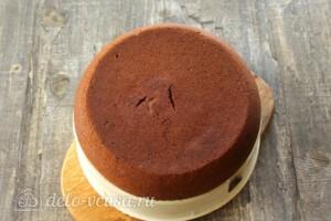 Шоколадно-банановый пирог в мультиварке: фото к шагу 10.