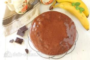 Шоколадно-банановый пирог в мультиварке: фото к шагу 13.