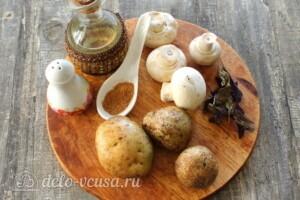 Картофель по-деревенски с шампиньонами: Ингредиенты