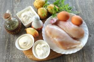 Куриные отбивные в картофельном кляре: Ингредиенты
