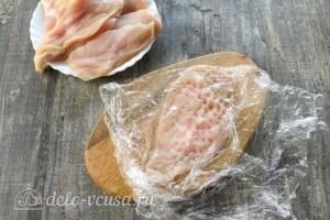Куриные отбивные в картофельном кляре: фото к шагу 1.