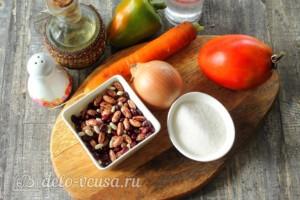 Лечо с фасолью и морковью на зиму: Ингредиенты