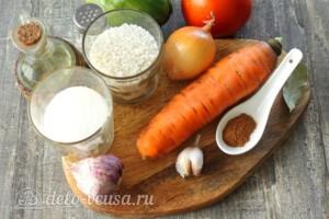 Лечо с рисом на зиму: Ингредиенты