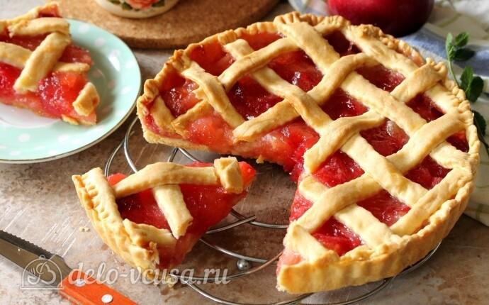 Яблочный пирог с решеткой: фото блюда приготовленного по данному рецепту