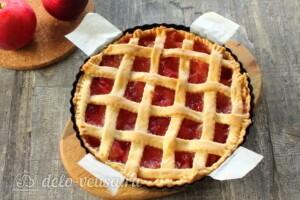 Яблочный пирог с решеткой: фото к шагу 11.