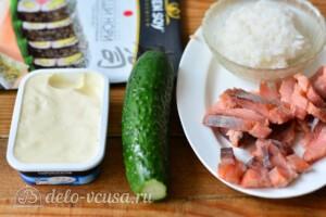 Домашние роллы с горбушей: Ингредиенты