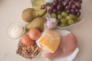 Салат с курицей, виноградом и грушей: Ингредиенты